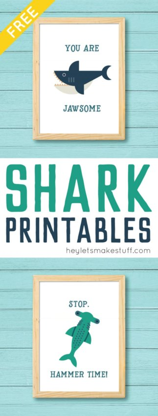 Free shark printables by Hey Let's Make Stuff