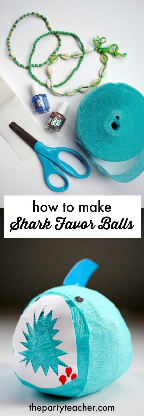 How to make shark favor balls by The Party Teacher
