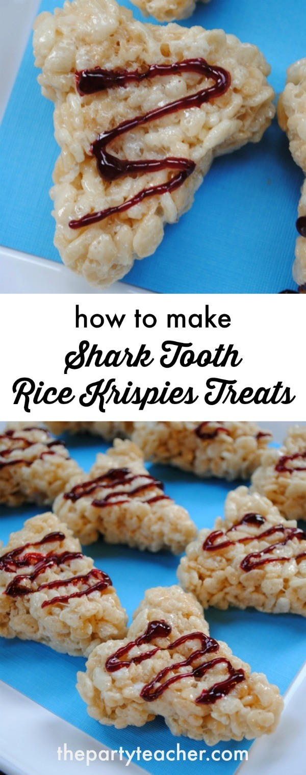 How to make shark tooth Rice Krispies Treats by The Party Teacher