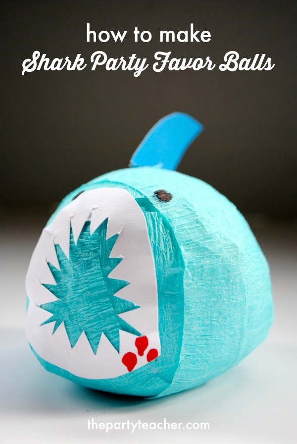 Tutorial - Shark Party Favor Surprise Balls by The Party Teacher - 20