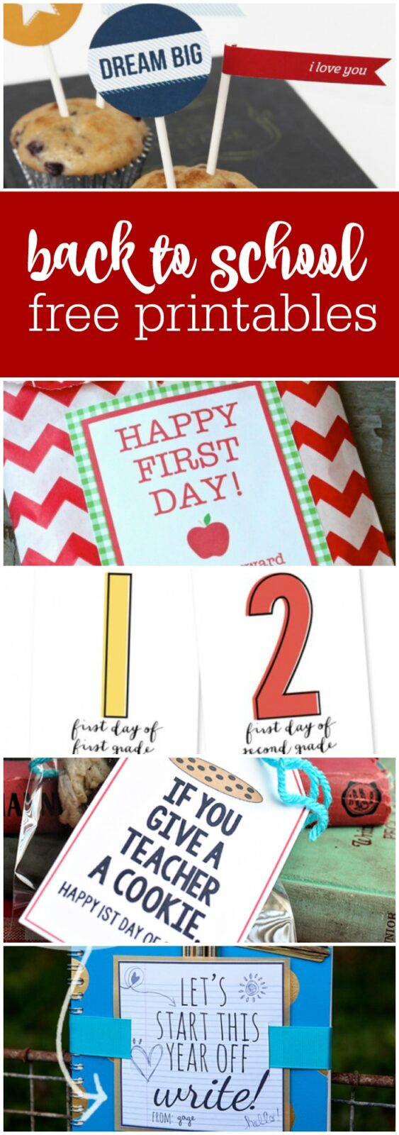 back to school free printables curated by The Party Teacher