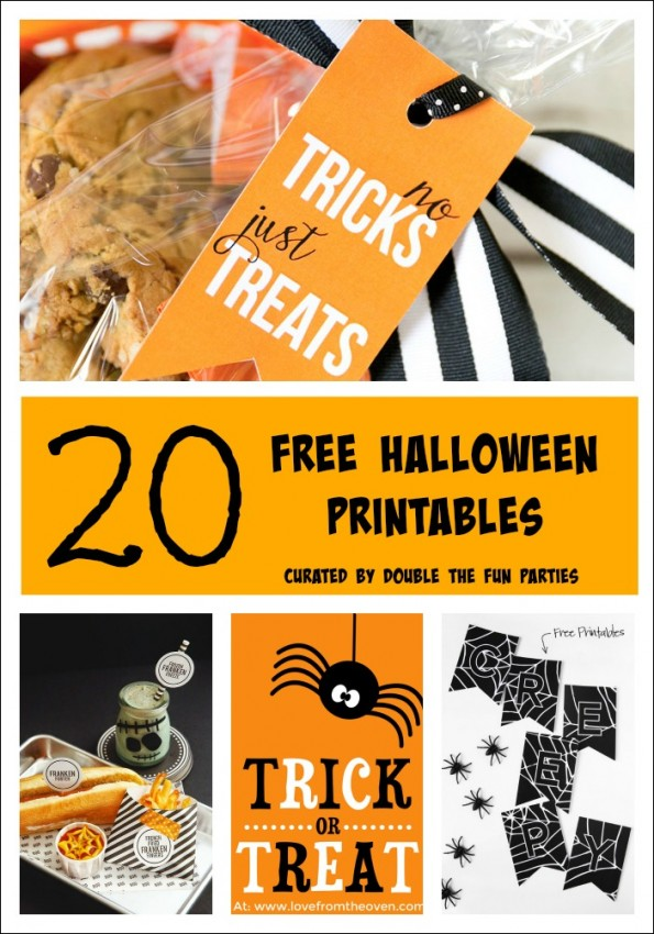 20 Free Halloween Printables by Double the Fun Parties