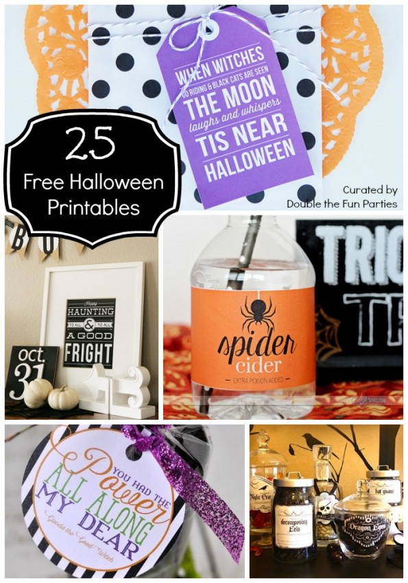 25 FREE Halloween Printbles Curated by Double the Fun Parties