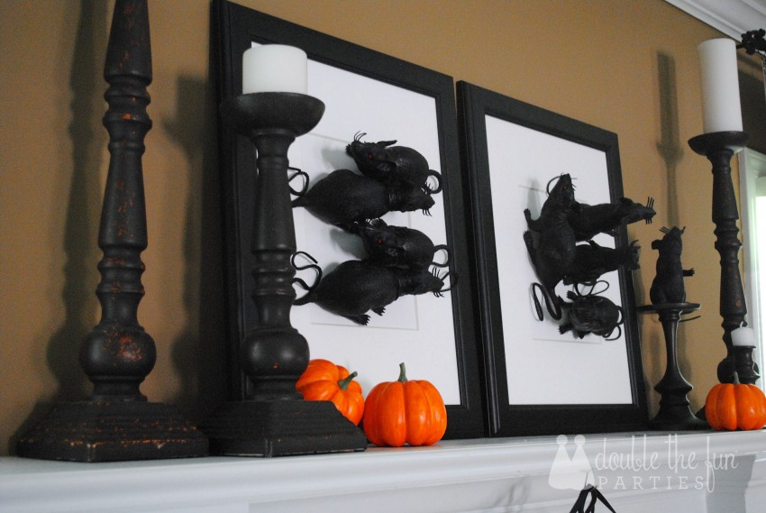 3-D Black Rat Halloween Art by Double the Fun Parties - 0699