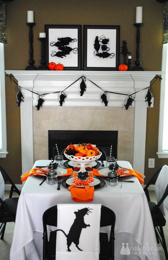 3-D Black Rat Halloween Art by Double the Fun Parties - 0716