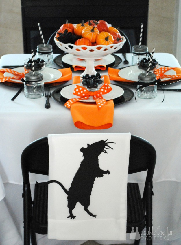 3-D Black Rat Halloween Art by Double the Fun Parties - 0983
