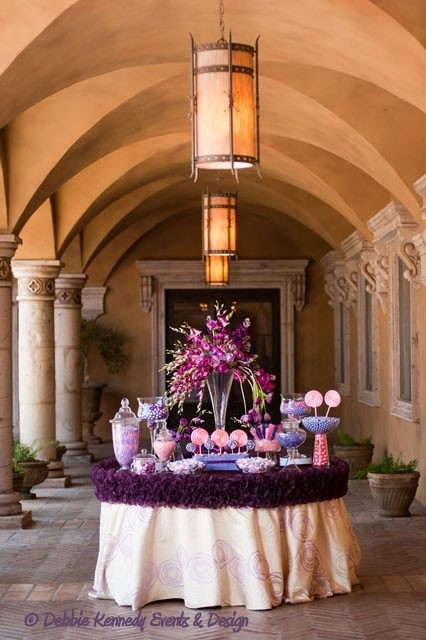 Debbie Kennedy Events & Designs Purple Wedding