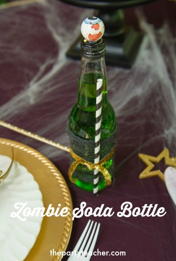 How to DIY a Zombie Princess Party Soda Bottle by The Party Teacher