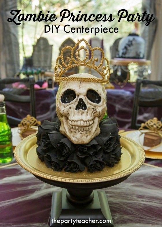 How to create a Zombie Princess Party Skull Centerpiece by The Party Teacher