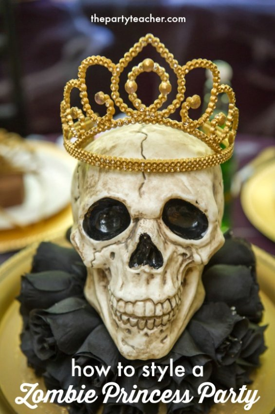 How to style a Zombie Princess Party by The Party Teacher