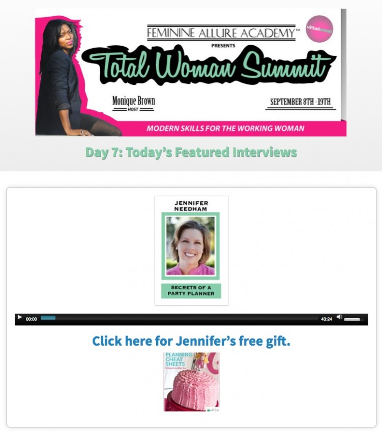 Total Woman Summit Day 7 - Secrets of a Party Planner