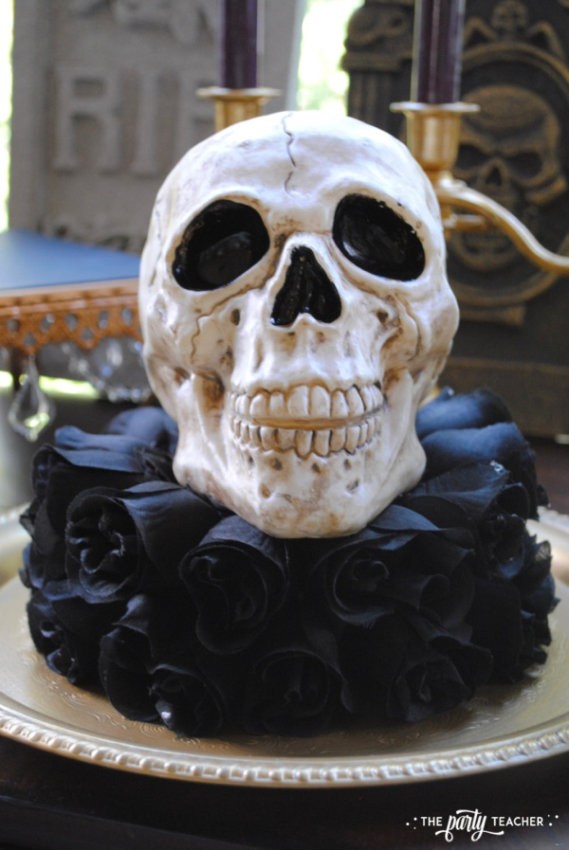 Zombie Princess Party Skull Centerpiece by The Party Teacher - 10