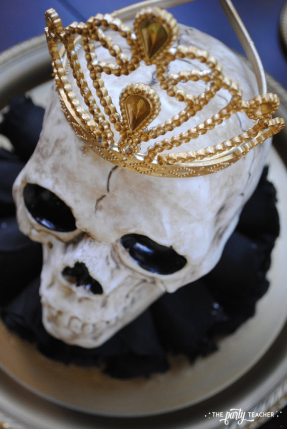 Zombie Princess Party Skull Centerpiece by The Party Teacher - 20