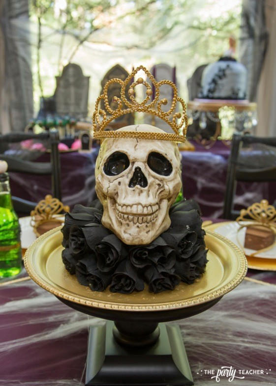 Zombie Princess Party Skull Centerpiece by The Party Teacher - 21