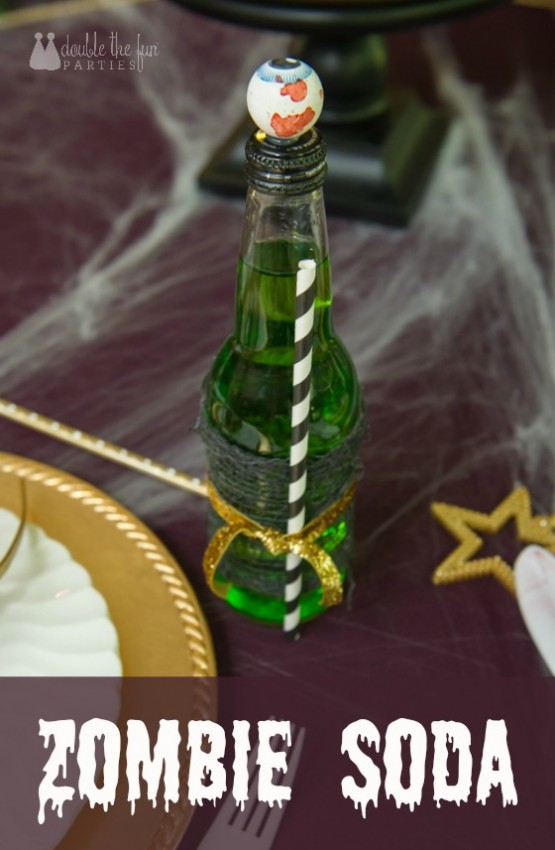 Zombie Princess Party Soda Bottles by Double the Fun Parties