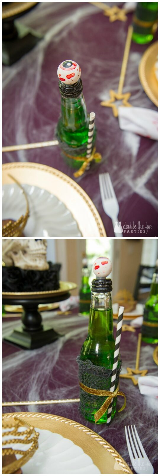 Zombie Princess Party by Double the Fun Parties eye ball soda