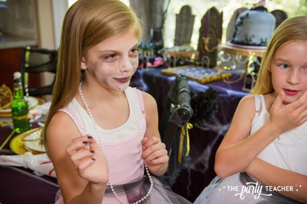 Zombie Princess Party by The Party Teacher - face painting
