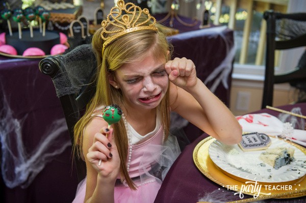 Zombie Princess Party by The Party Teacher - zombie cake pop