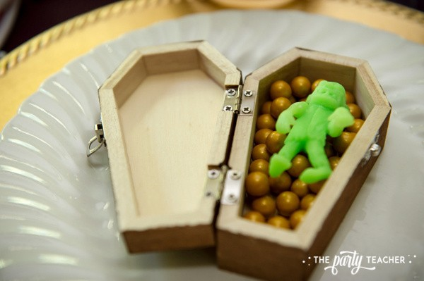Zombie Princess Party by The Party Teacher - zombie and Sixlets party favor
