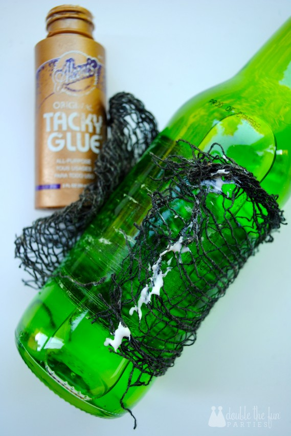 Zombie Princess Party soda bottle tutorial by Double the Fun Parties-4