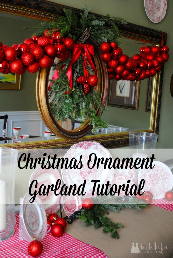 Christmas Ornament Garland Tutorial by Double the Fun Parties 1066