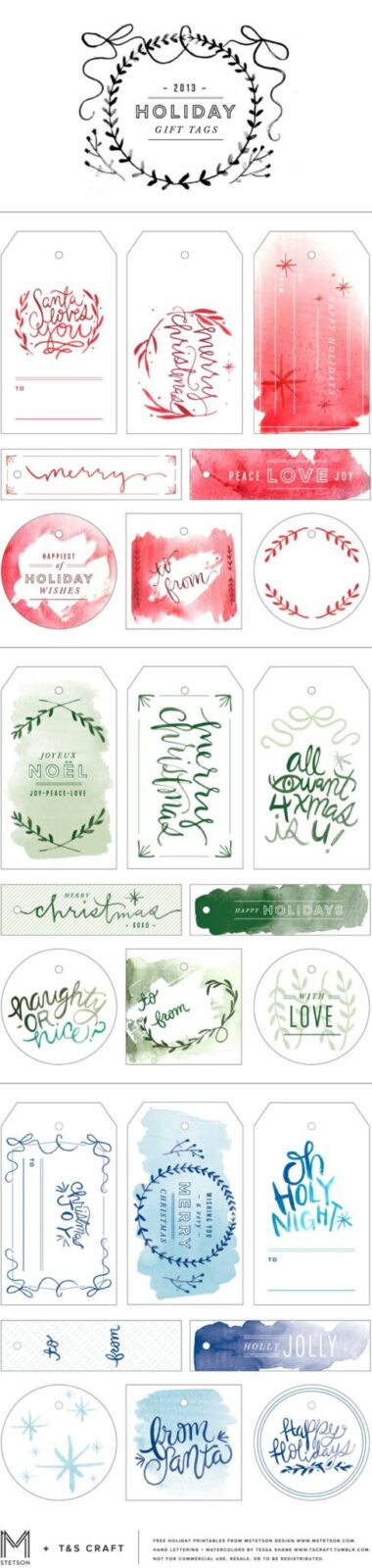 FF T&S Craft via MStetson Christmas Tags