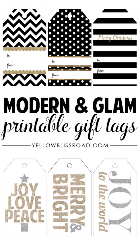 FF Yellow Bliss Road for Tatertots & Jello Christmas tags