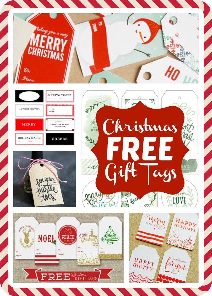 Free printable Christmas Gift Tags Curated by Double the Fun Parties