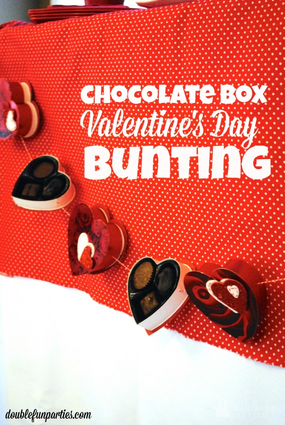 Chocolate Box Valentine's Day Bunting by Double the Fun Parties