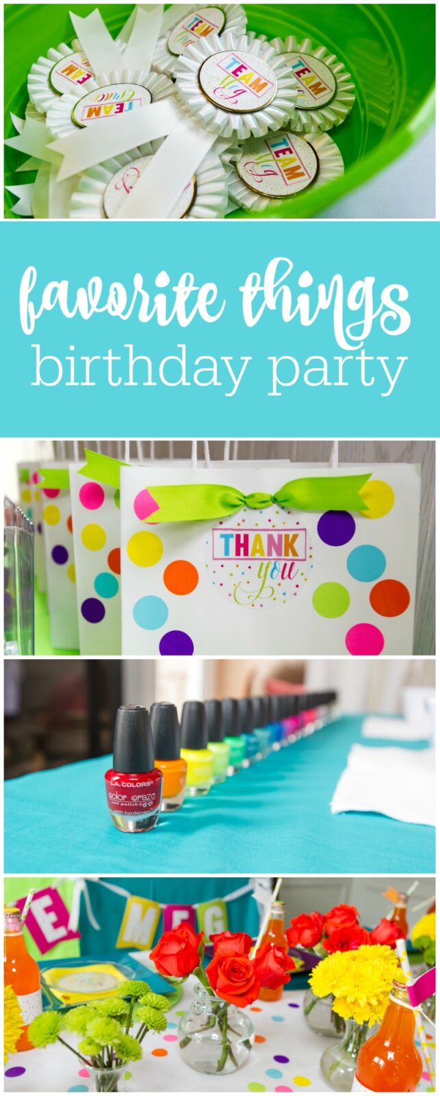 How to host a favorite things birthday party by The Party Teacher
