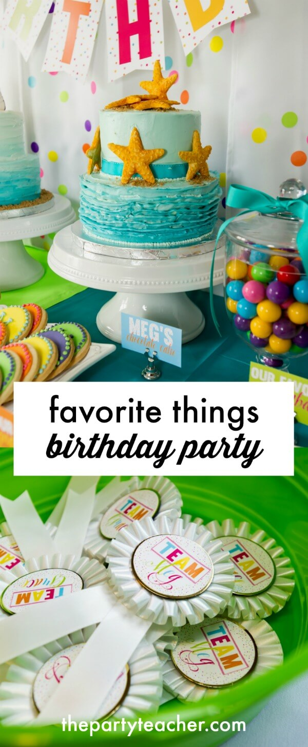 How to plan a favorite things birthday party for 10-year-olds by The Party Teacher