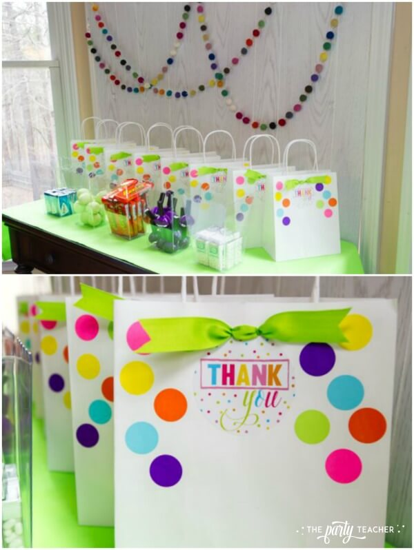 Twins Top 10 Party by The Party Teacher - build your own party favors station