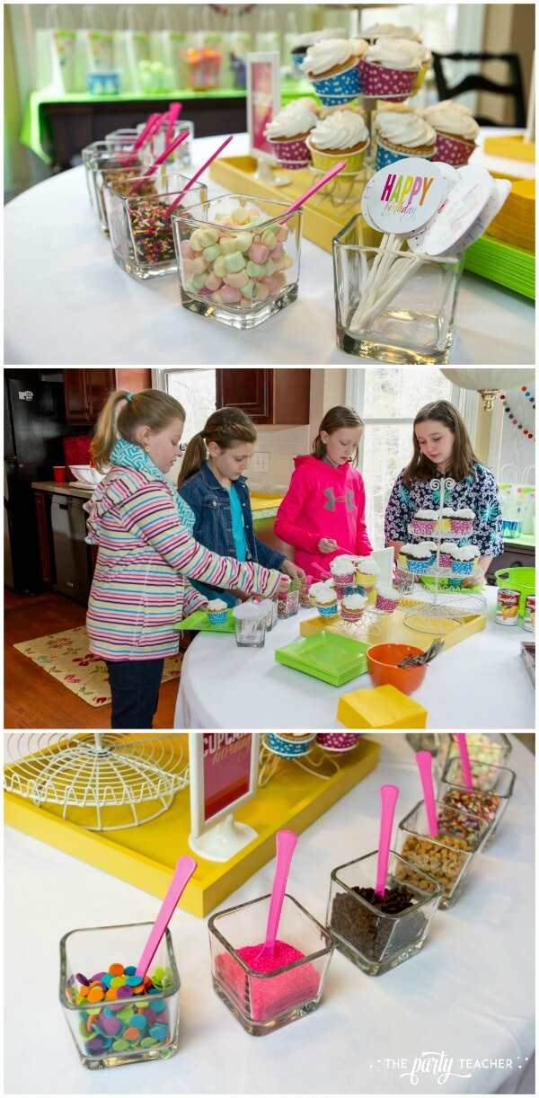 Twins Top 10 Party by The Party Teacher - cupcake decorating