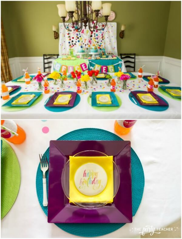 Twins Top 10 Party by The Party Teacher - place setting