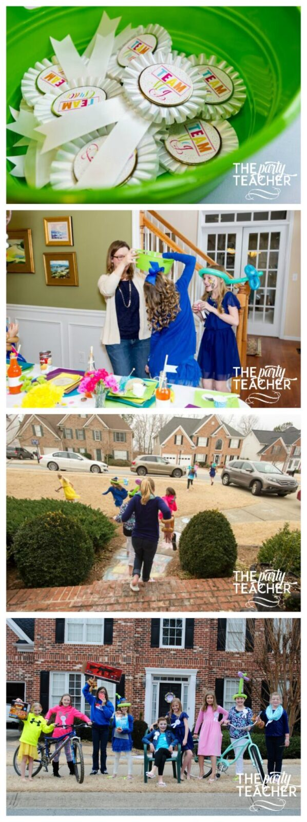 Twins Top Ten Bigger Better Scavenger Hunt Collage by The Party Teacher