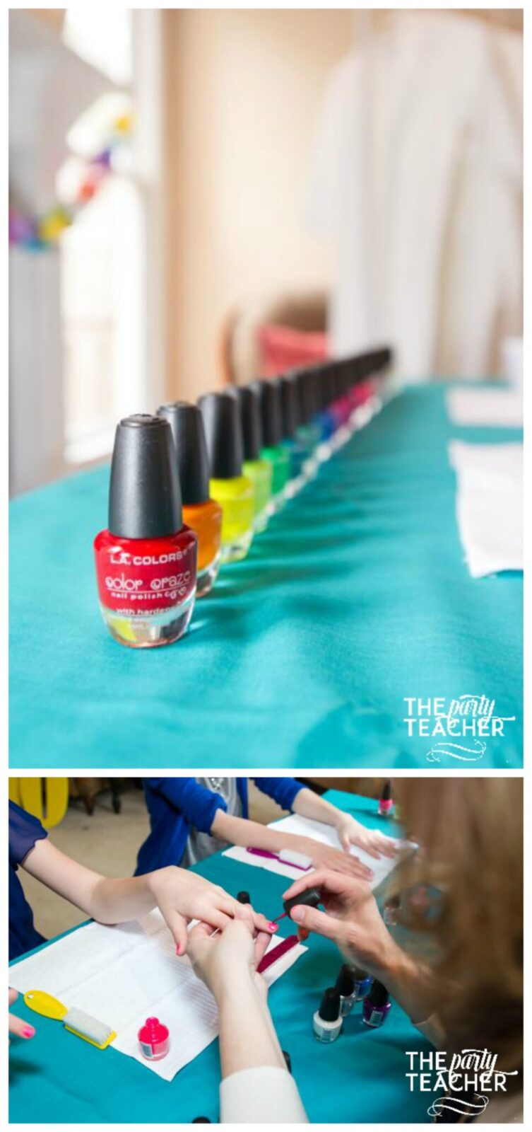 Twins Top Ten Nail Polish Station Collage by The Party Teacher