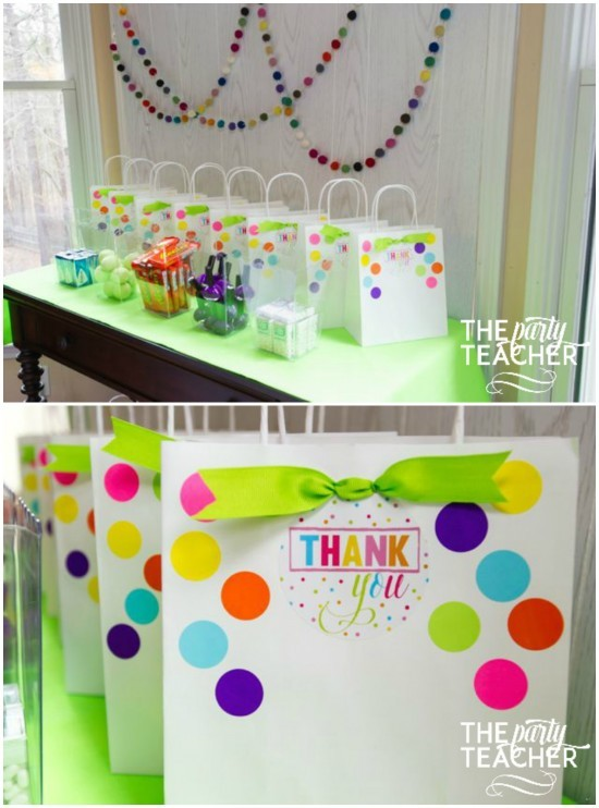 Twins Top Ten Party Favors Collage by The Party Teacher