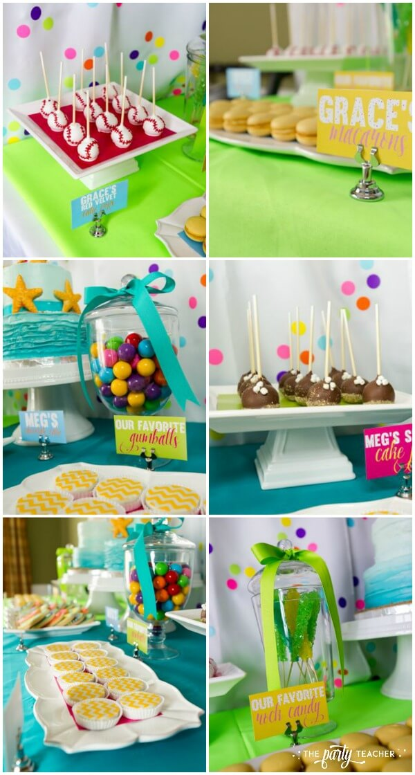 Twins Top Ten Party by The Party Teacher - dessert table treats