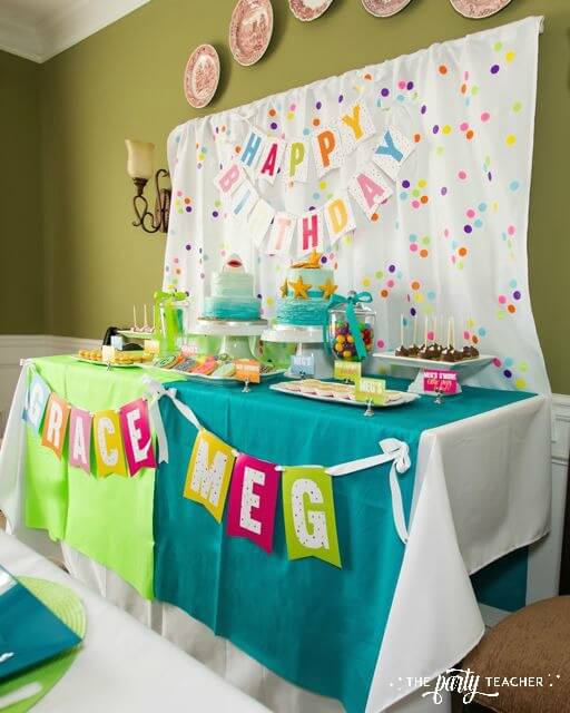 Twins Top Ten Party by The Party Teacher - dessert table