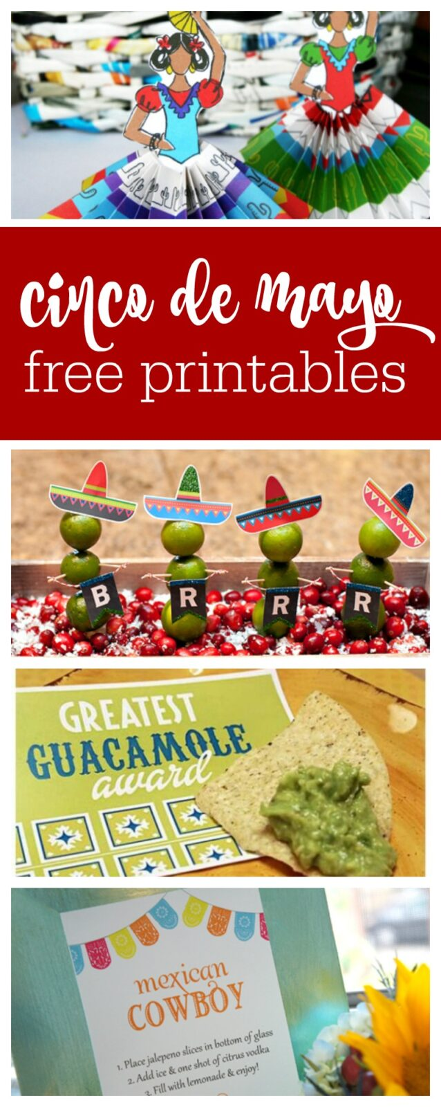 Cinco de Mayo free printables curated by The Party Teacher