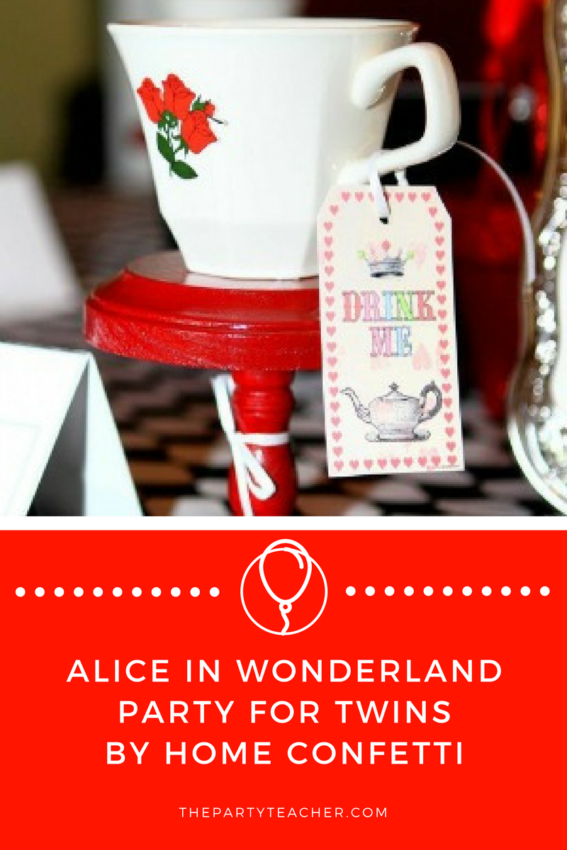 Alice in Wonderland Party for Twins by Home Confetti featured on The Party Teacher