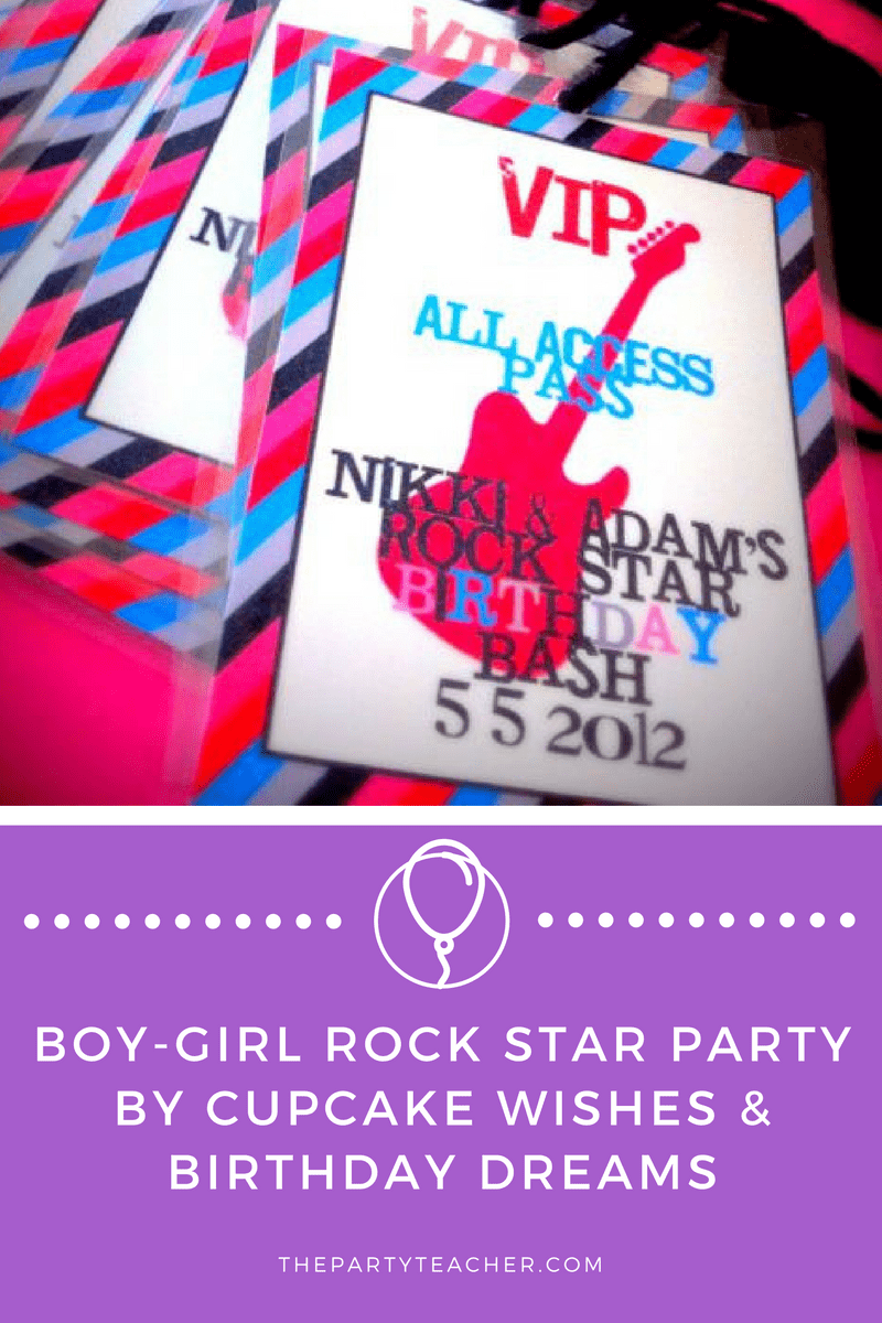 Boy Girl Rock Star Party