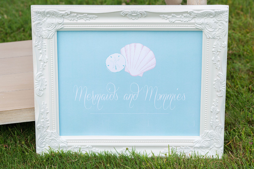 Mermaids Party by Sweet Peach Paperie featured on The Party Teacher - party signage