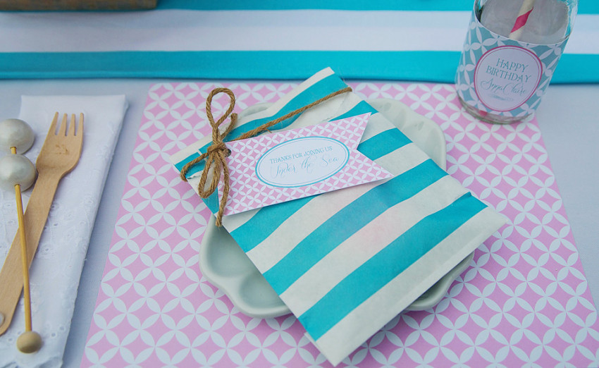 Mermaids Party by Sweet Peach Paperie featured on The Party Teacher - party favors