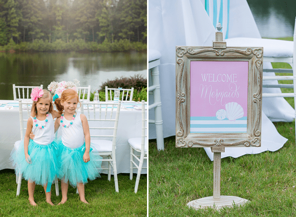 Mermaids Party by Sweet Peach Paperie featured on The Party Teacher - welcome sign