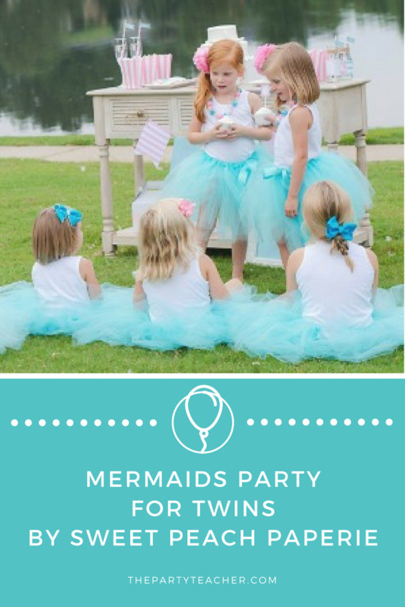 Mermaids Party for Twins by Sweet Peach Paperie featured on The Party Teacher