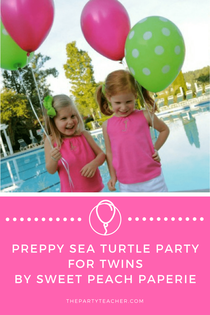 Preppy Turtle Party for Twins