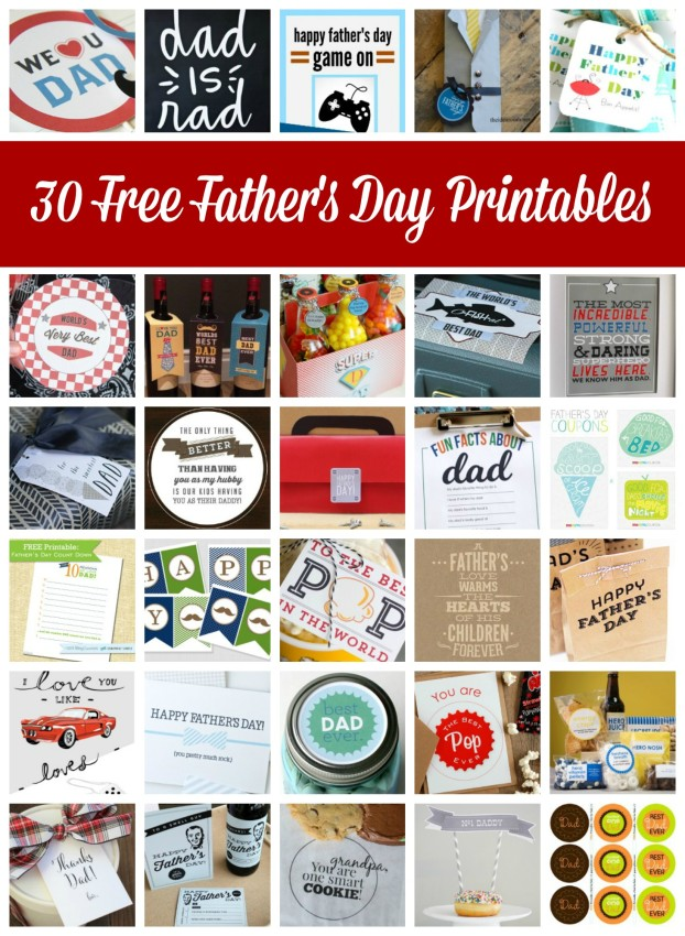 30 Free Father's Day Printables