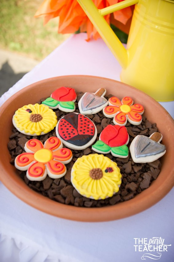 Gardening Party by The Party Teacher - gardening cookies by Creating Awesomenessity