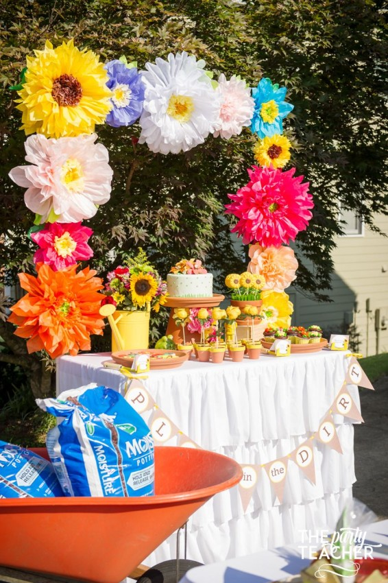 Gardening Party by The Party Teacher - dessert table